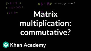 Is matrix multiplication commutative