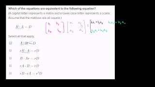 Equivalence of matrix products with scalars