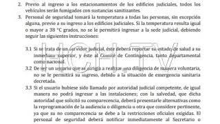 #PoderJudicial da a conocer protocolo de seguridad contra #Covid19 para ingresar a sus instalaciones