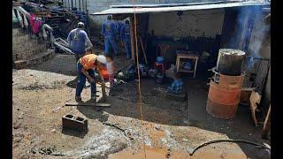 Viviendas afectadas por las lluvias en Villa Nueva