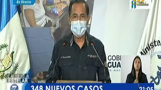 Guatemala reportó 348 nuevos casos de COVID-19