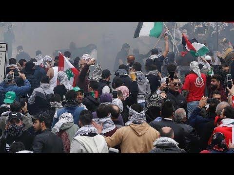 Protest outside US embassy in Beirut against Trump's Jerusalem decision turns violent