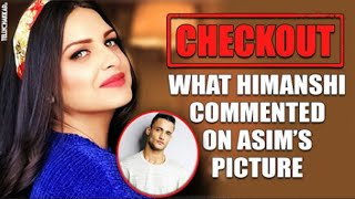 What exactly did Himanshi comment on bf, Asim Riaz's s picture that made fans go 'Awwww' | Checkout - TELLYCHAKKAR