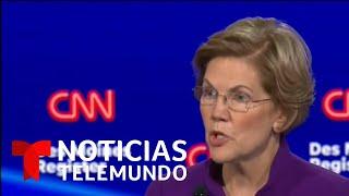 Este es el audio que revela qué se dijeron Sanders y Warren por polémico saludo   Noticias Telemundo