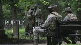USA: New security fencing erected around White House amid Floyd protests