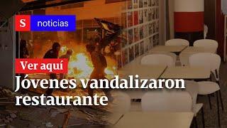 Jóvenes vandalizaron restaurante en Bogotá que estaba a punto de abrir sus puertas | Semana Noticias