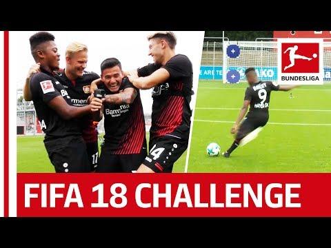 Bailey, Aranguiz & Co. - FIFA 18 Bundesliga Free Kick Challenge - Bayer 04 Leverkusen