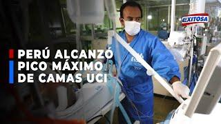 ????????Perú alcanzó pico máximo de ocupación de camas UCI que se registró en la primera ola