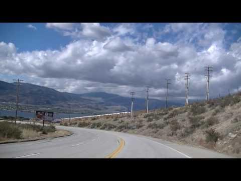 OSOYOOS British Columbia Canada - Driving in Town - Wine County - Okanagan Desert