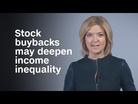 Why stock buybacks may deepen income inequality