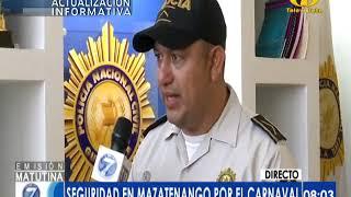 PNC garantiza seguridad por el Carnaval de Mazatenango
