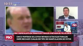 JOSÉ MANUEL VILLALOBOS sobre cinco partidos solicitan revisar actas electorales