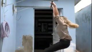Exercise करते हुए गिरी महिला, उड़ गए होश - NDTVINDIA