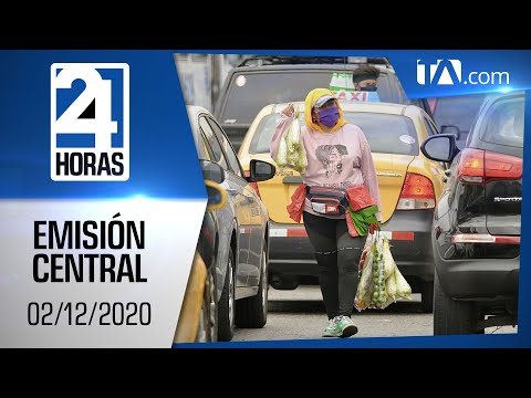 Noticias Ecuador: Noticiero 24 Horas, 02/12/2020 (Emisión Central)
