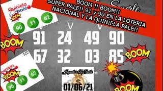 BOOM!! BOOM!! SUPER PALE 90 Y 91 EN LA LOTERIA NACIONAL Y QUINIELA PALE !!????????????