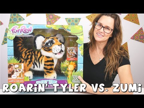 connectYoutube - Roarin' Tyler FurReal Friends | The Playful Tiger | DCTC Amy Jo Toy Review