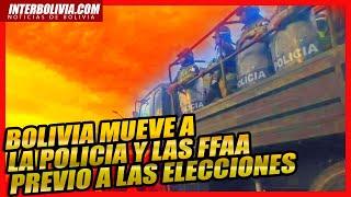 ???? Intenso movimiento de las Fuerzas Armadas y Policia en La Paz, previo a las elecciones 2020