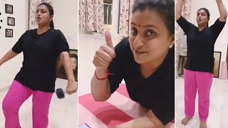 Actress Roja Selvamani Latest GYM Workout Video | MLA Roja Workout Unseen Video - RAJSHRITELUGU