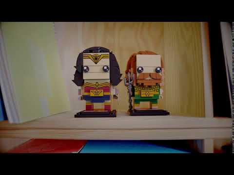 Wonder Woman & Aquaman Personal Space - LEGO Brickheadz - 41599 41600