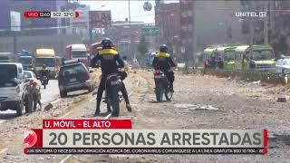 Varias personas son arrestadas consumiendo bebidas alcohólicas en espacios públicos en El Alto