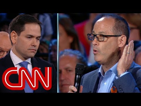 connectYoutube - Father challenges Marco Rubio on guns