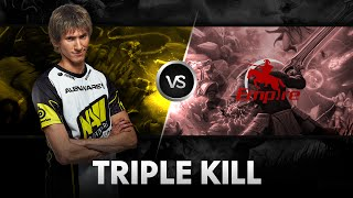 Triple Kill! By Dendi vs Team Empire @Excellent Moscow Cup 2
