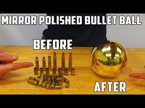 connectYoutube - Casting Mirror Polished Brass Ball from Molten Brass (Japanese Aluminium Foil Ball Sequel)