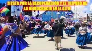 Entrada folklórica por la recuperación de la democracia en el Alto junto a Lucho y David - Bolivia