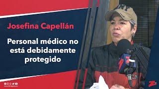 Josefina Capellán muestra preocupación porque el personal médico no está debidamente protegido