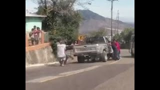 Accidente de tránsito en Jalapa.