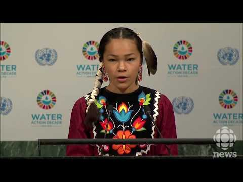 Autumn Peltier, 13-year-old water advocate, addresses UN