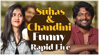 Suhas And Chandini Chowdary Funny Rapid Fire | Suhas And Chandini Chowdary Interview - TFPC