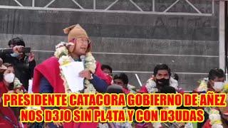 PRESIDENTE LUIS ARCE EN EL ANIVERSARIO DE LOS PONCHOS ROJOS EN ACHACACHI DONDE ENTREGÓ 2 VEHÍCULOS..