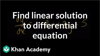 Finding particular linear solution to differential equation