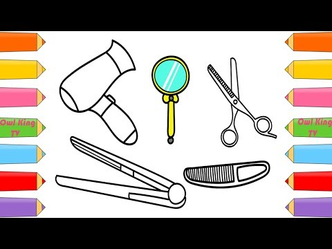 download youtube to mp3 how to draw set beauty hair salon dryer comb scissors coloring pages for kids owl king tv