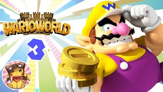 WARIO WORLD Walkthrough Part 3 - Wonky Circus - All Collectibles & Bosses [1080p] No commentary