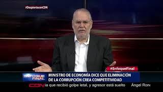Ministro de Economía dice que eliminación de la corrupción crea competitividad