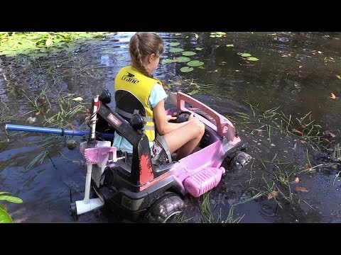 IMPROVED amphibious toy car with electric outboard motor