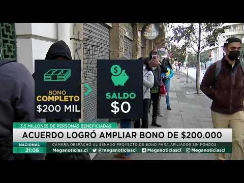 Acuerdo logró amplían bono 200 mil pesos: 3,5 millones de personas beneficiadas