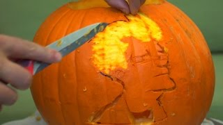 Carve a pumpkin using free online templates