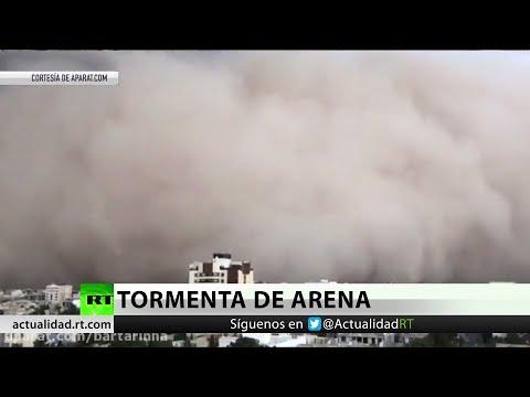 Intensa tormenta de arena en Irán