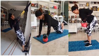 Actress Lakshmi Manchu Gym Workout In Home | Latest Celebrities Workout Videos | TFPC - TFPC