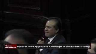 Diputada Helen Ajcip, señaló al congresista Aníbal Rojas de obstaculizar su labor parlamentaria