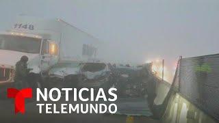 Cierran autopista en México por dos choques múltiples   Noticias Telemundo