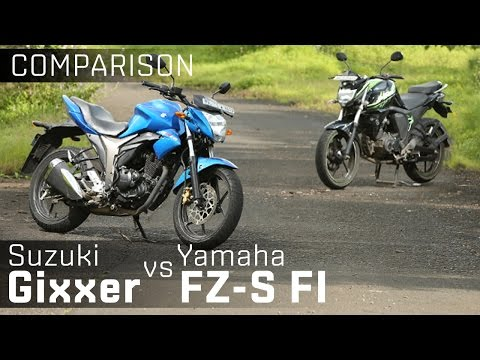 Suzuki Gixxer vs Yamaha FZ-S v2.0 :: Bike Comparison :: ZigWheels