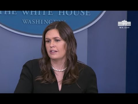 Sarah Sanders Briefs Reporters on Trump's latest 'Flip Flops'