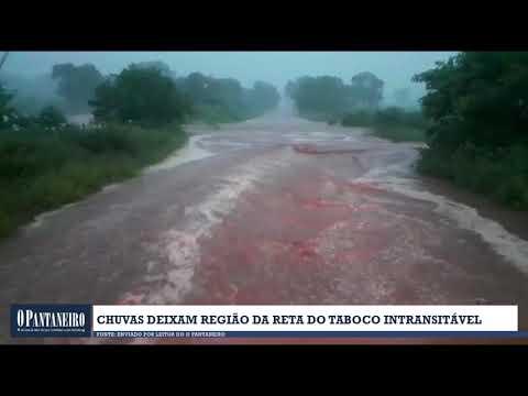 Chuvas deixam região da Reta do Taboco intransitável
